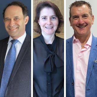 (L-R) Prof Jerry Greenfield, Dr Dorit Samocha-Bonet and Prof Mark Febbraio