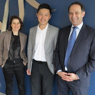 Prof Jerry Greenfield (right), Dr Dorit Samocha-Bonet (left) & Daniel Chen
