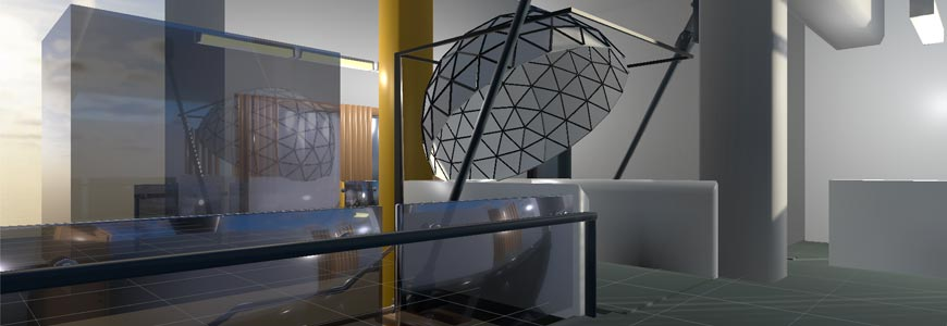 Immersive visualisation dome - credit Mark Arrebola