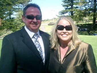 Kerryn, with her husband Matthew